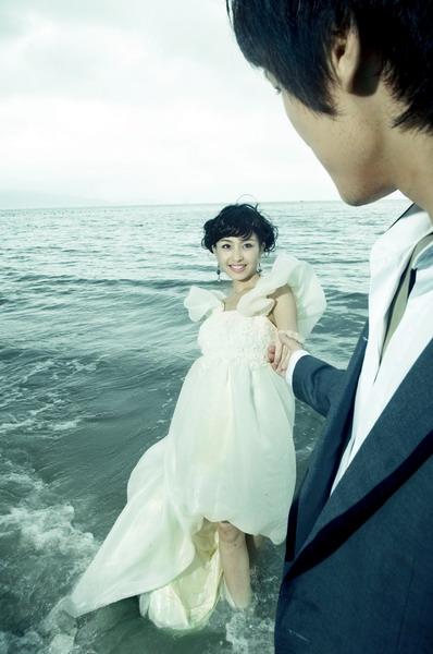 海边的浪漫(9p)_海景婚纱照_婚纱照片欣赏_新娘说